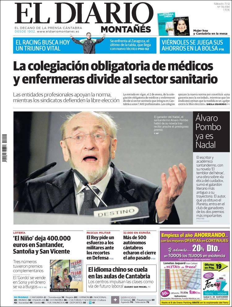 Peri dico el diario monta s espa a peri dicos de espa a edici n de s bado 7 de enero de - Puerta de madrid periodico ...