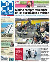 Portada de 20 Minutos - Madrid (Spain)