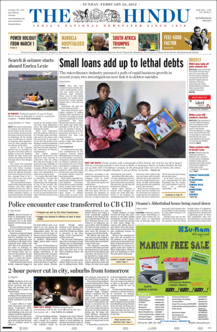 the hindu newspaper pdf today