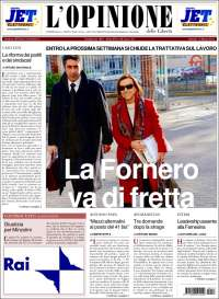 Portada de L'Opinione  delle Libertà (Italia)