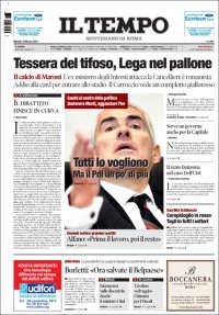 Portada de Il Tempo (Italia)