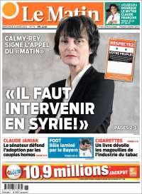 journal le matin suisse les unes des journaux de suisse dition du mercredi 14 de mars de. Black Bedroom Furniture Sets. Home Design Ideas