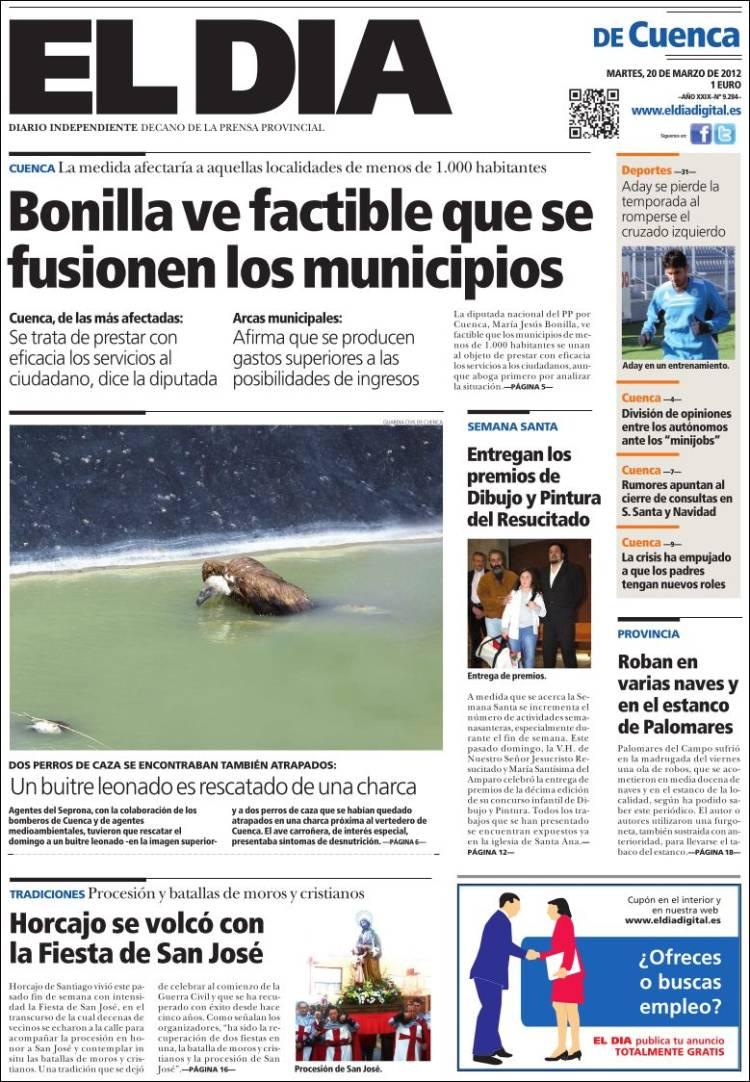 Peri dico el d a de cuenca espa a peri dicos de espa a Noticias del dia de hoy en argentina espectaculos