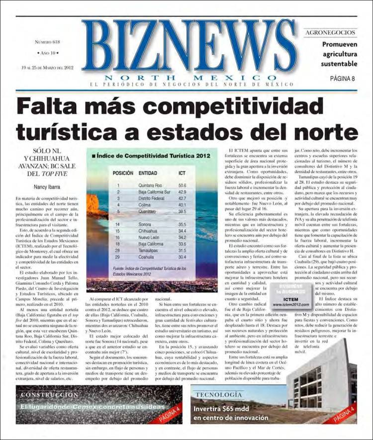 Portada de BizNews (Mexico)