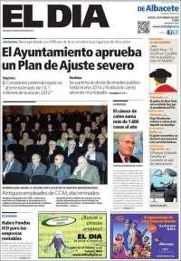 Portada de EL Día de Albacete (España)