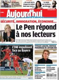 Portada de Aujourd'hui en France (Francia)
