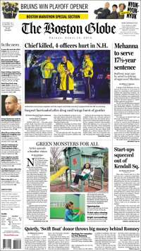 Portada de Boston Globe (USA)