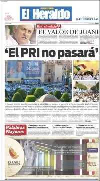 Portada de El Heraldo del Bajio (Mexico)