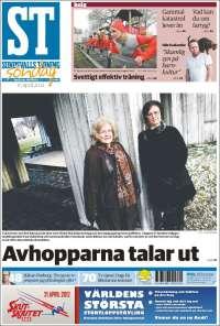Portada de Sundsvalls Tidning (Suède)