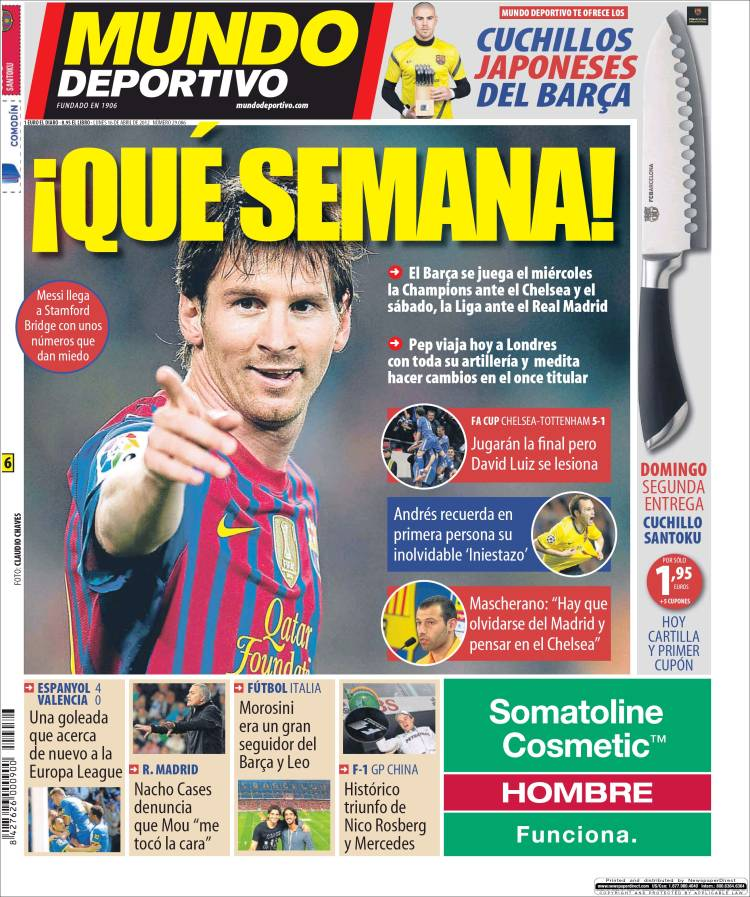 Periódico El Mundo Deportivo (España). Periódicos de España. Edición ... f882cb9f54972