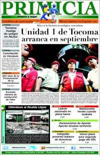Portada de Primicia (Venezuela)