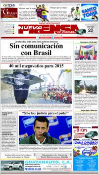 Portada de Nueva Prensa Guayana (Venezuela)