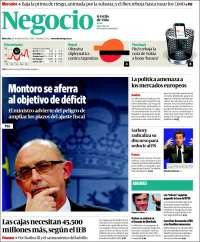Portada de Diario Negocio (España)