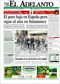 Portada de El Adelanto de Salamanca (España)