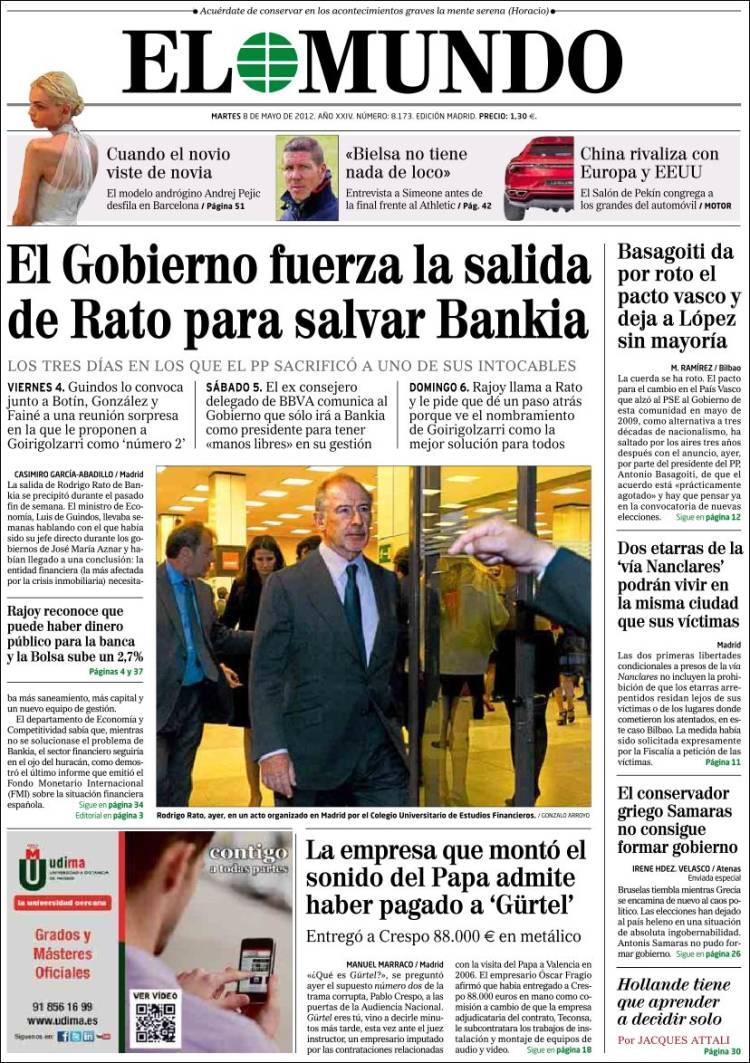 Diario El Mundo 8-5-2012