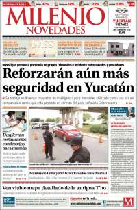 Portada de Milenio Novedades (México)