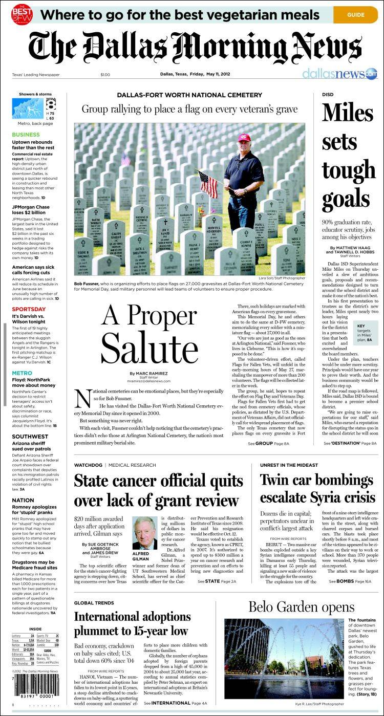 newspaper dallas morning news usa newspapers in usa friday s