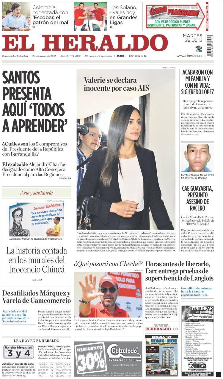 Periódico El Heraldo (Colombia). Periódicos de Colombia ...