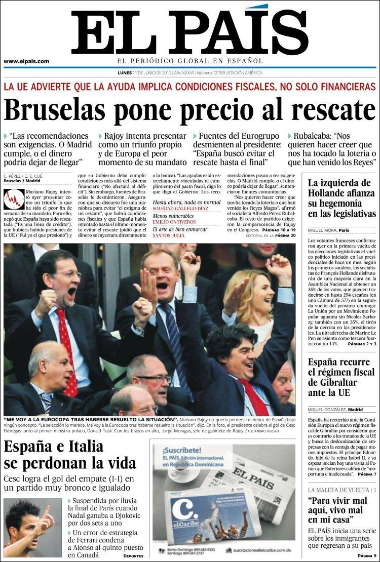 El pais journal espagnol - Nom de journal espagnol ...