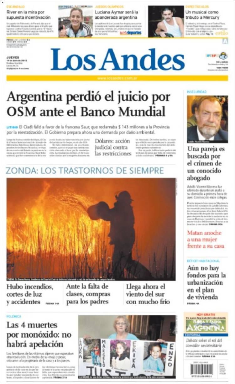 Diario los andes mendoza