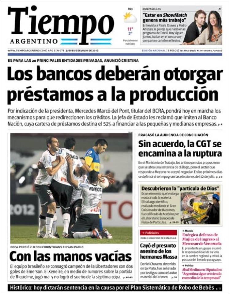 Peri dico tiempo argentino argentina peri dicos de for Chimentos de hoy en argentina