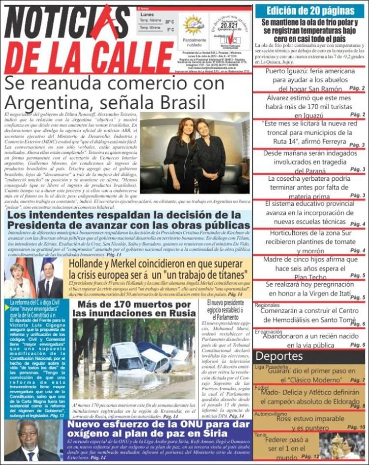 Portada de Noticias de la Calle (Argentina)