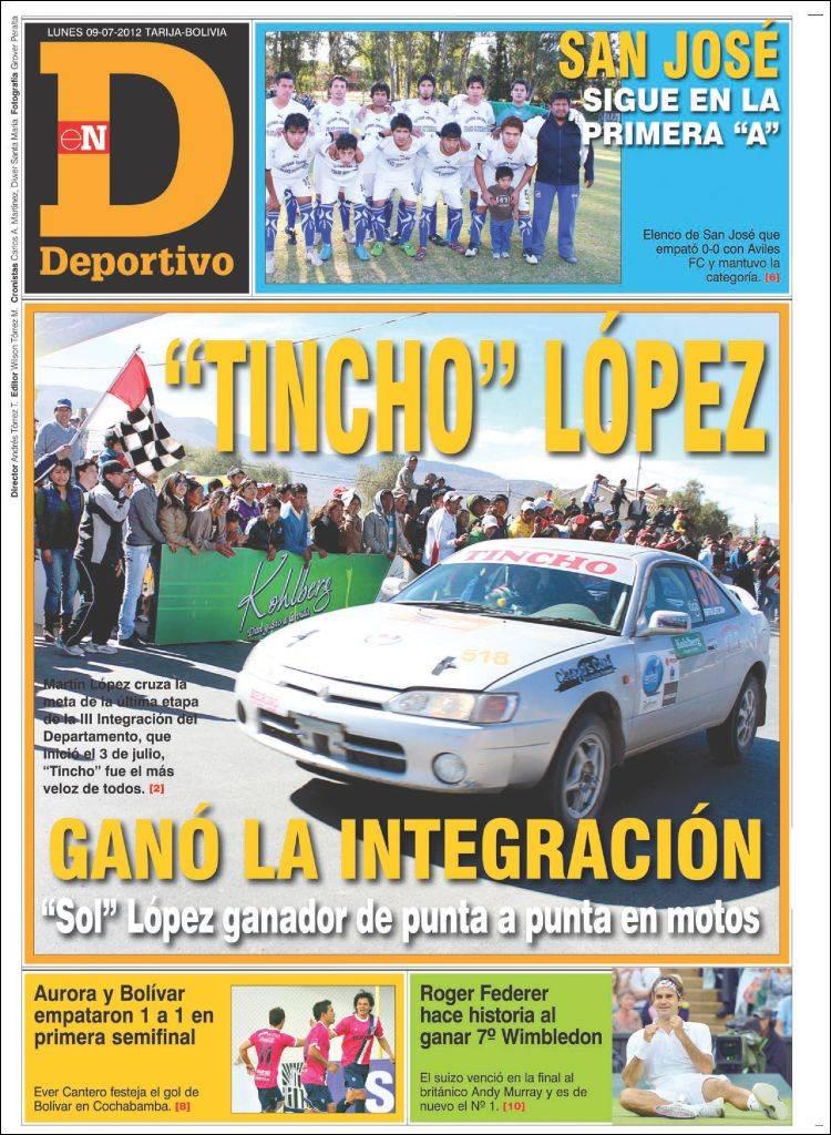 Portada de Deportivo (Bolivia)