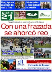 Portada de Diario 21 (Chile)