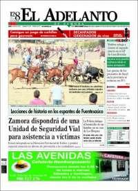 Portada de El Adelanto de Zamora (España)