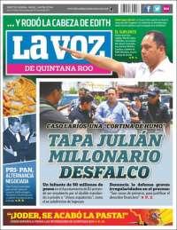 Portada de La Voz de Quintana Roo (México)