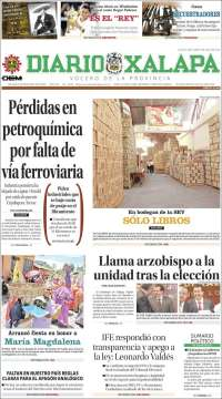 Portada de Diario de Xalapa (México)