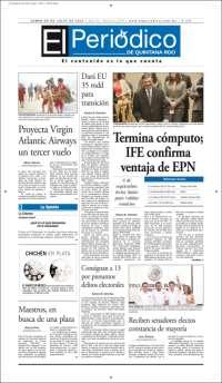 Portada de El Periódico de Quintana Roo (México)
