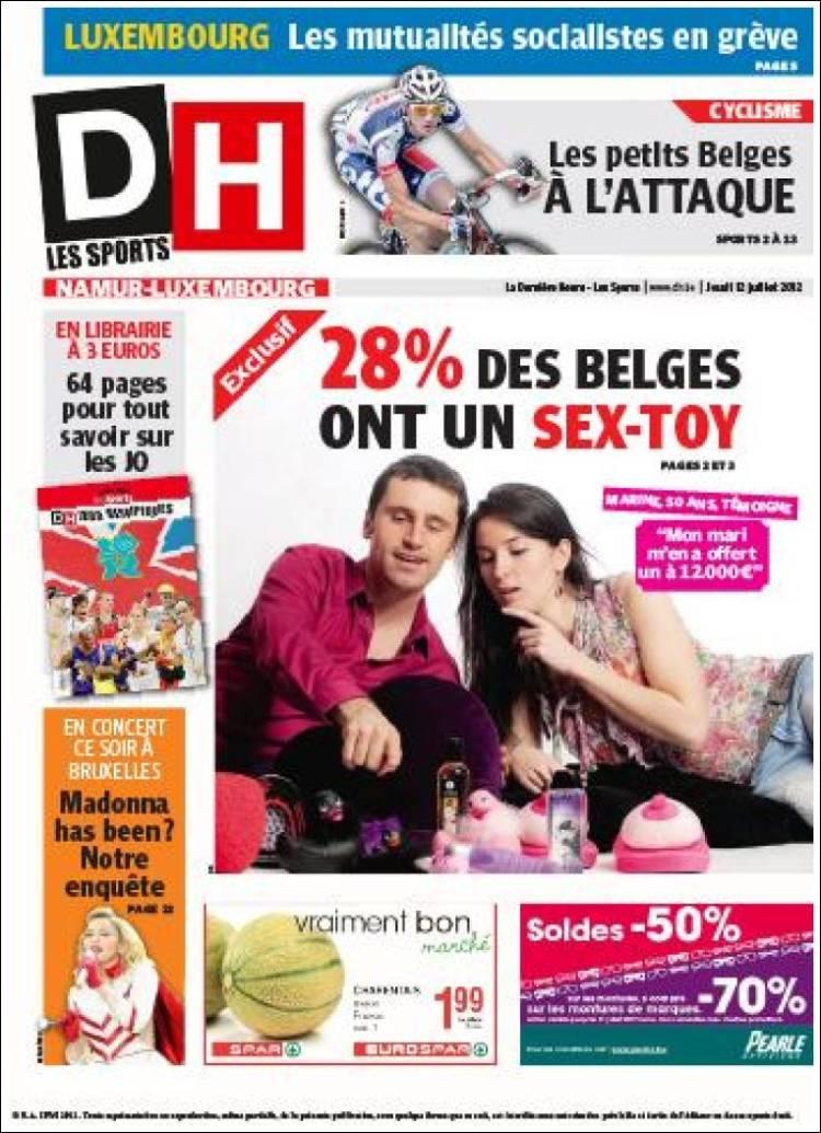 Portada de DH (Bélgica)