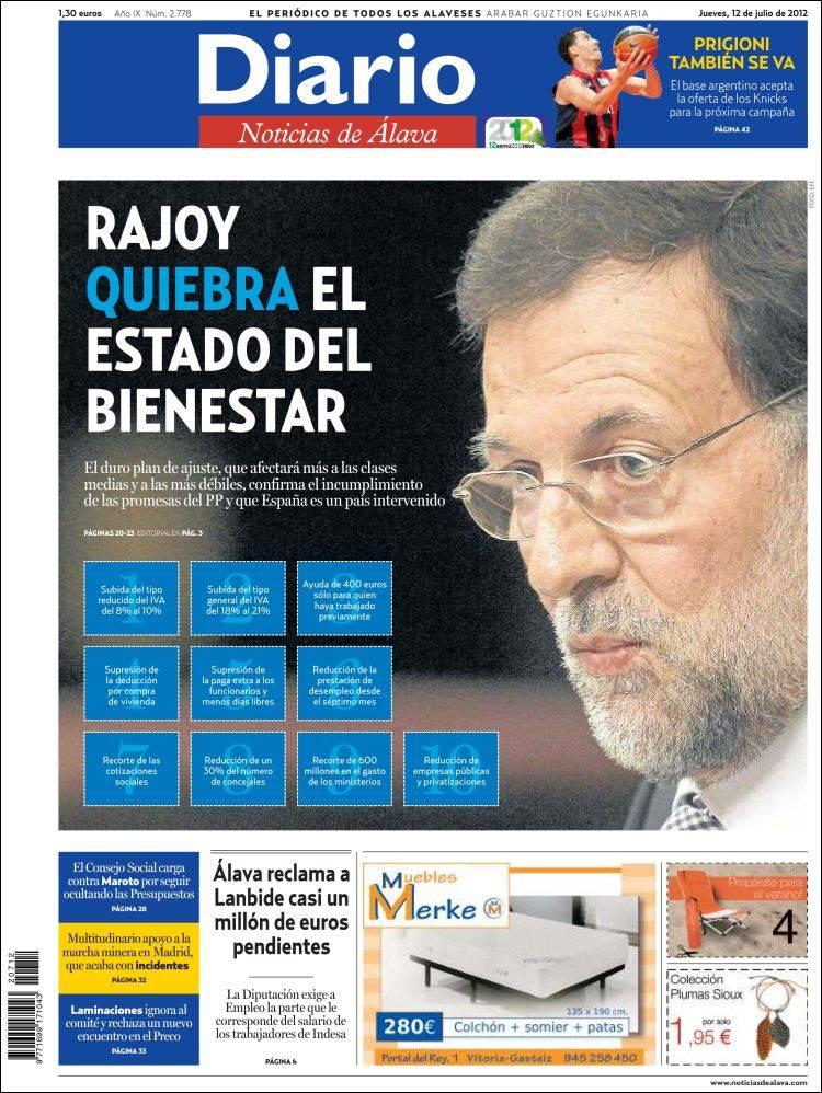Portada de Noticias de Álava (España)
