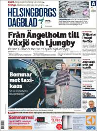 Portada de Helsingborgs Dagblad (Suecia)