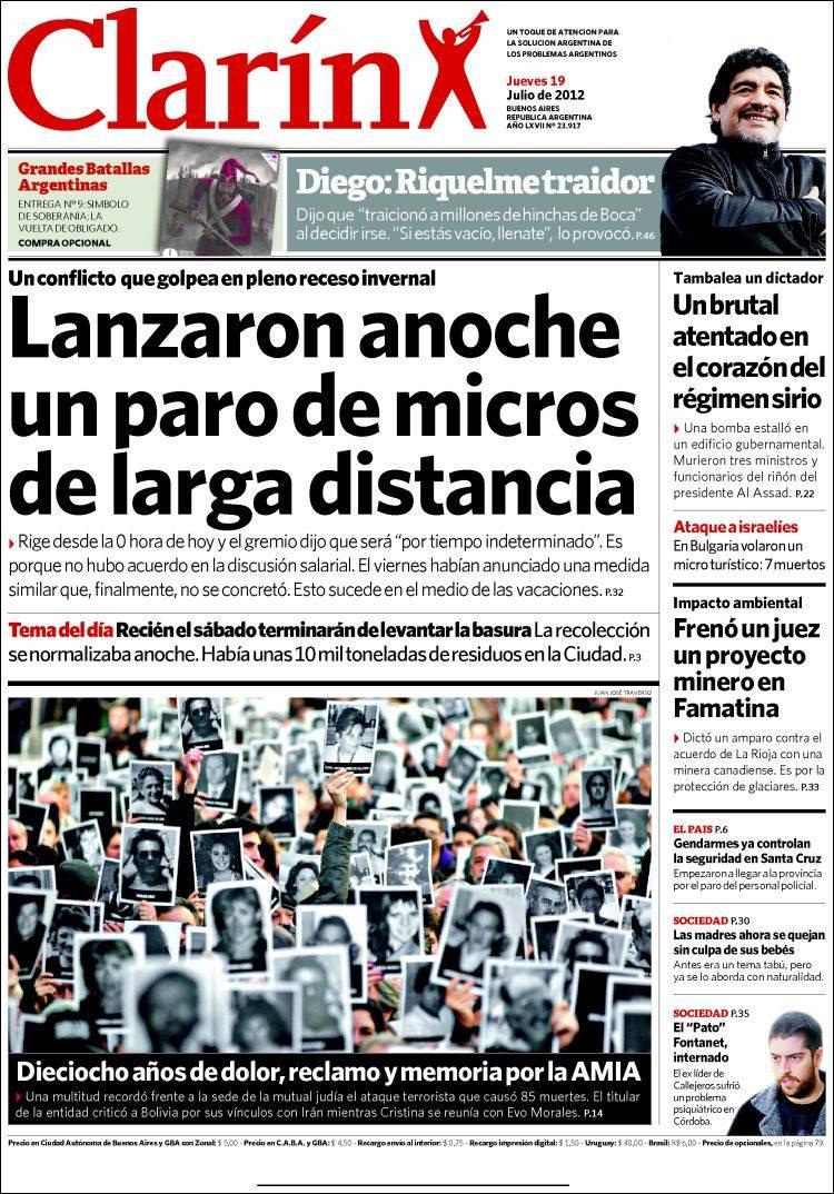 Peri dico clar n argentina peri dicos de argentina for Chimentos de hoy en argentina