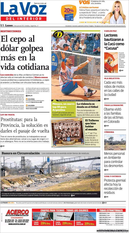 Peri dico la voz del interior argentina peri dicos de argentina edici n de lunes 23 de - La voz del interior ...