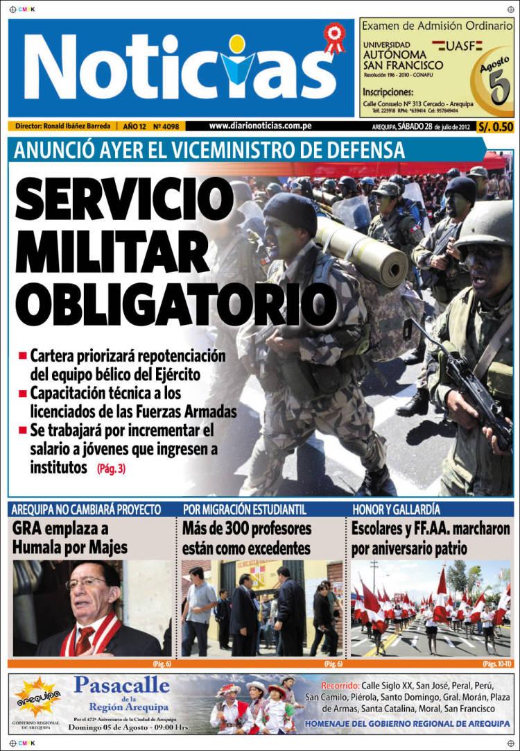 Peri dico diario noticias per peri dicos de per for Noticias del espectaculo del dia de hoy argentina