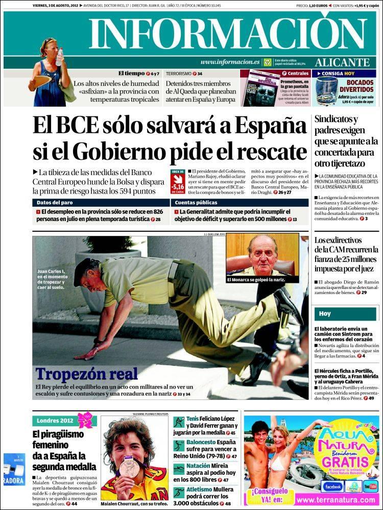 Peri dico diario informaci n espa a peri dicos de espa a edici n de viernes 3 de agosto de - Puerta de madrid periodico ...