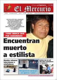 Portada de El Mercurio de Cajamarca (Perú)