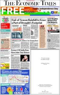 Portada de The Economic Times (India)