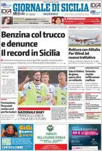 Portada de Giornale di Sicilia (Italia)