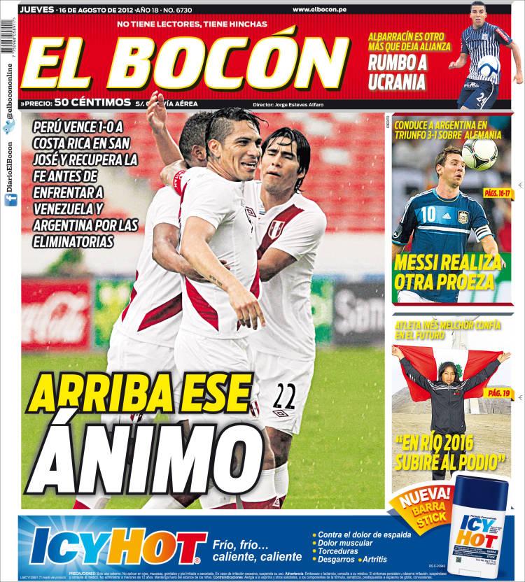 Periódico El Bocón Perú Periódicos De Perú Edición De Jueves 16