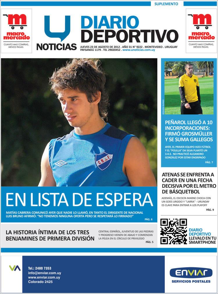 Portada de Diario Deportivo (Uruguay)