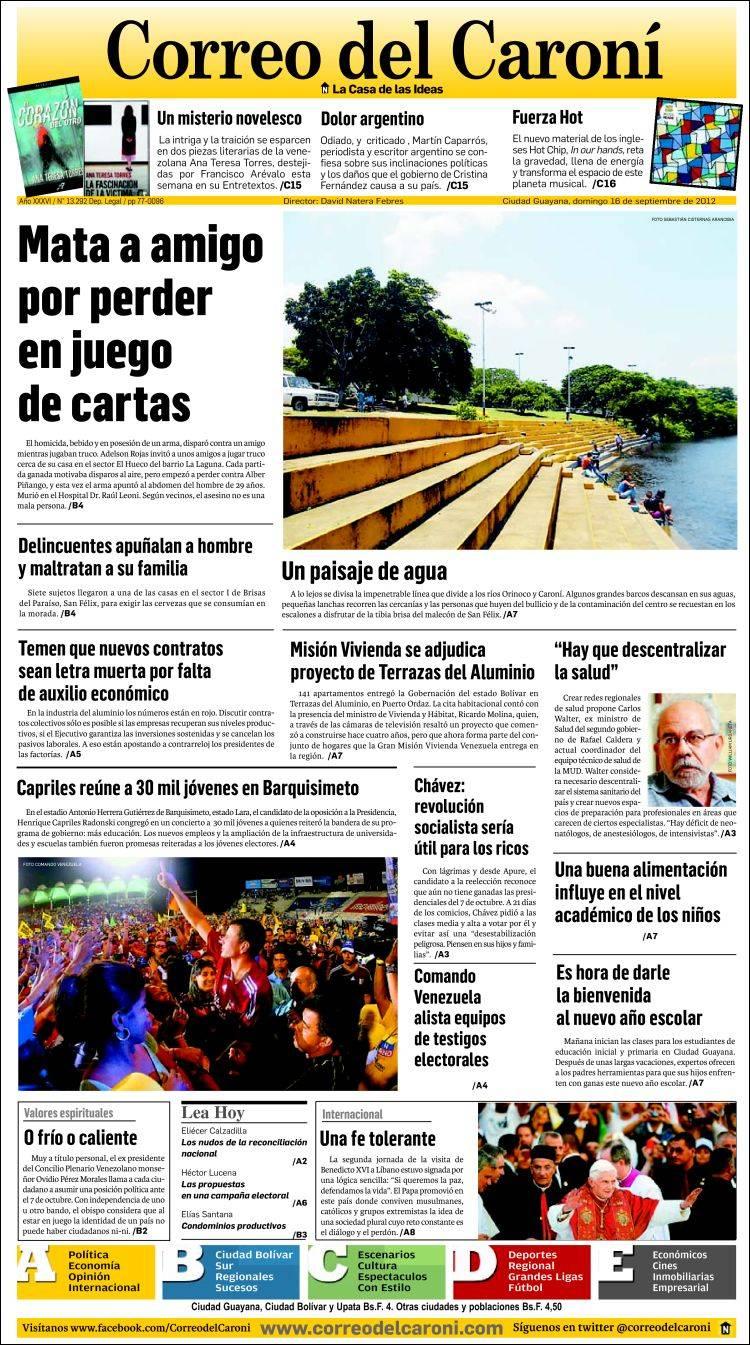 Periódico Correo Del Caroní Venezuela Periódicos De