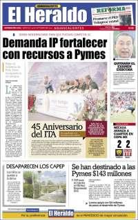 Portada de El Heraldo de Aguascalientes (México)