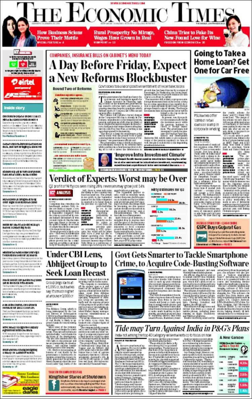The economics times e paper