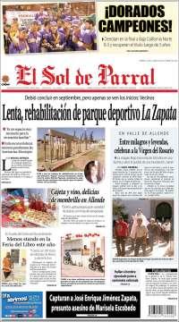 Portada de El Sol de Parral (México)