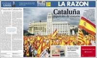 Portada de La Razón (España)
