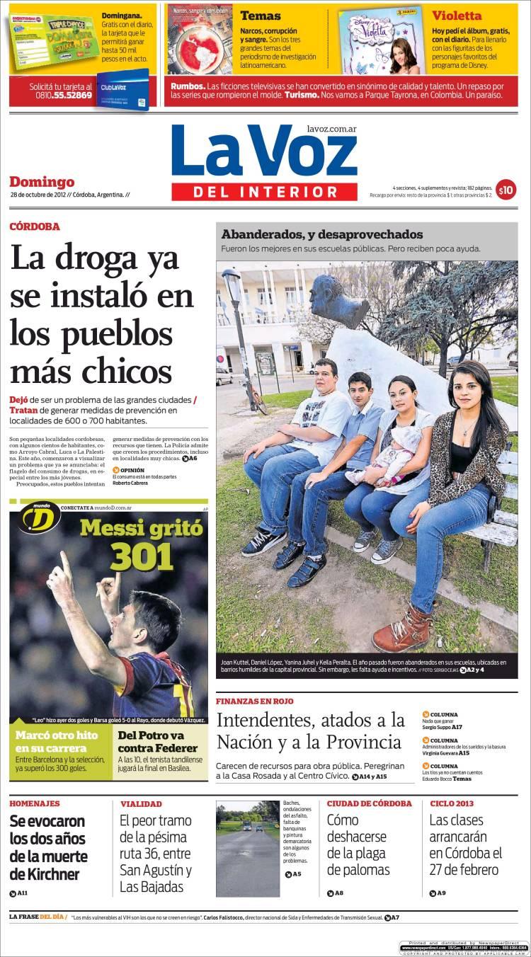 Peri dico la voz del interior argentina peri dicos de argentina edici n de domingo 28 de - La voz del interior ...